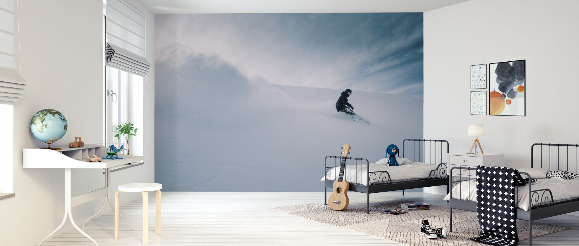 Snowboarder - Wallpaper - Kids Room