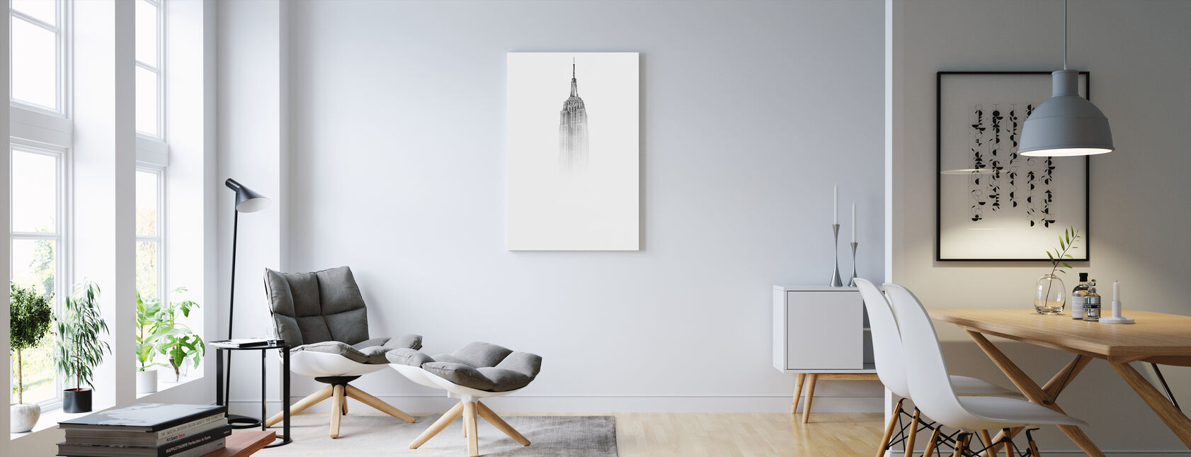 Misty Empire State - Canvas print - Woonkamer