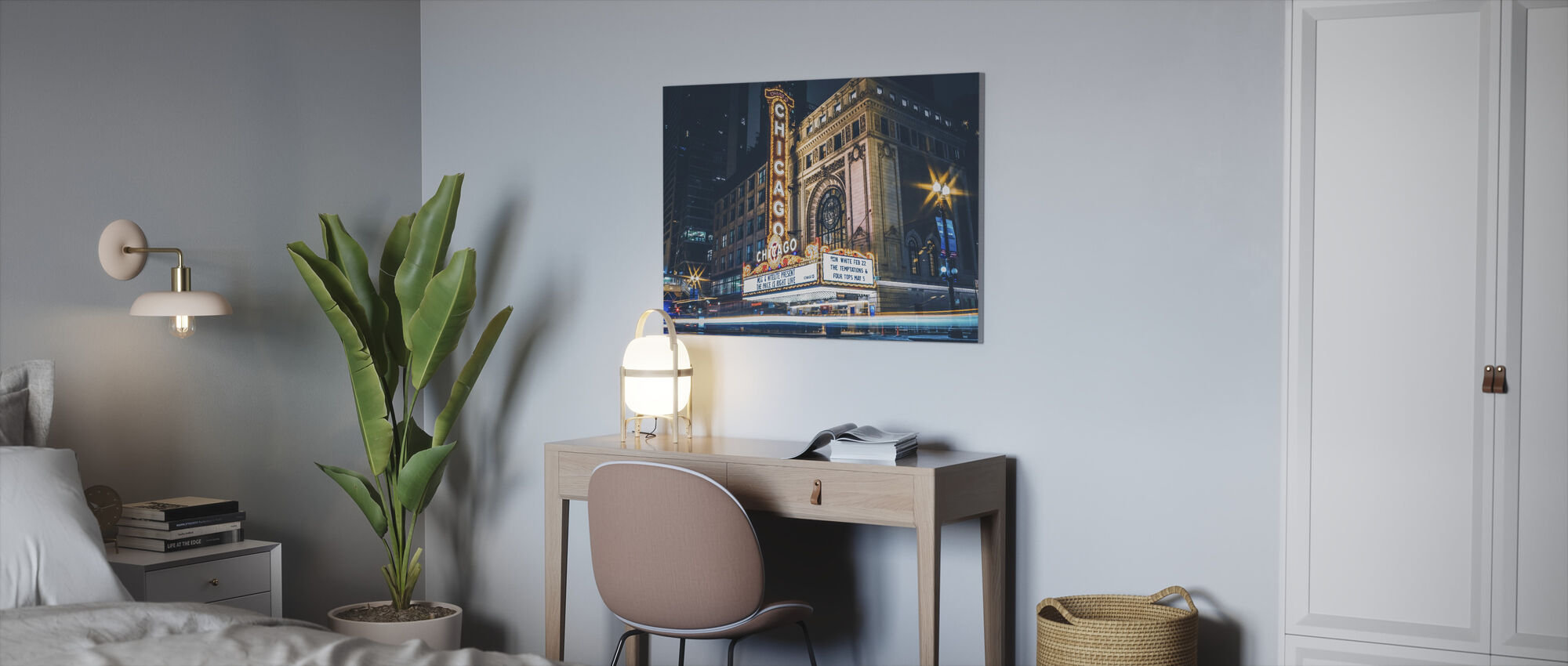 Chicago Theatre - Canvas print - Office