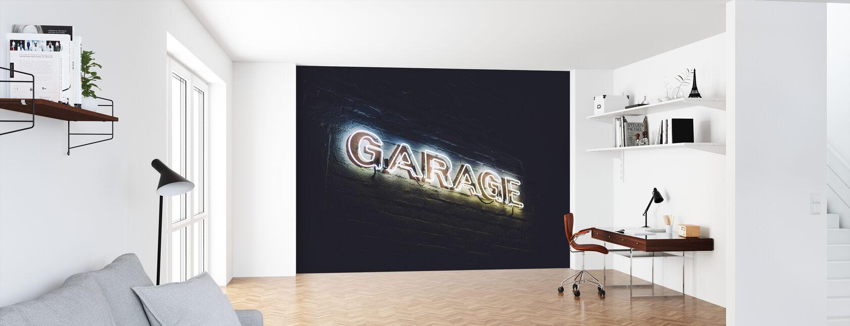 Garage Teken - Behang - Kantoor