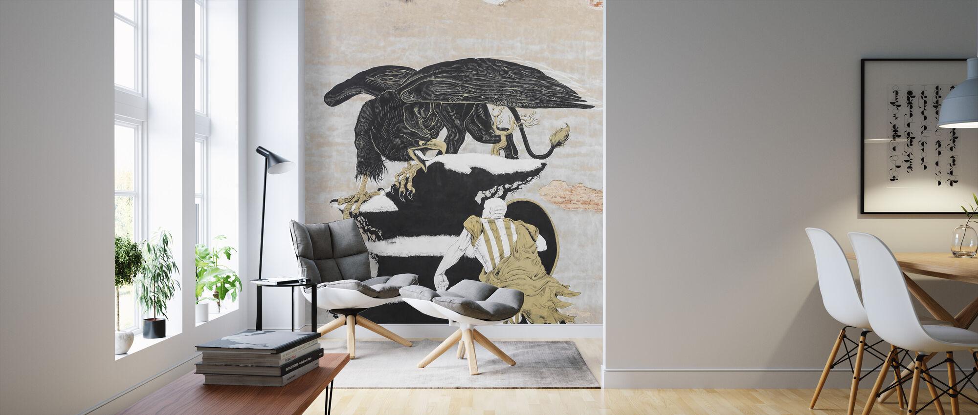 Street Art Painting - Wallpaper - Living Room