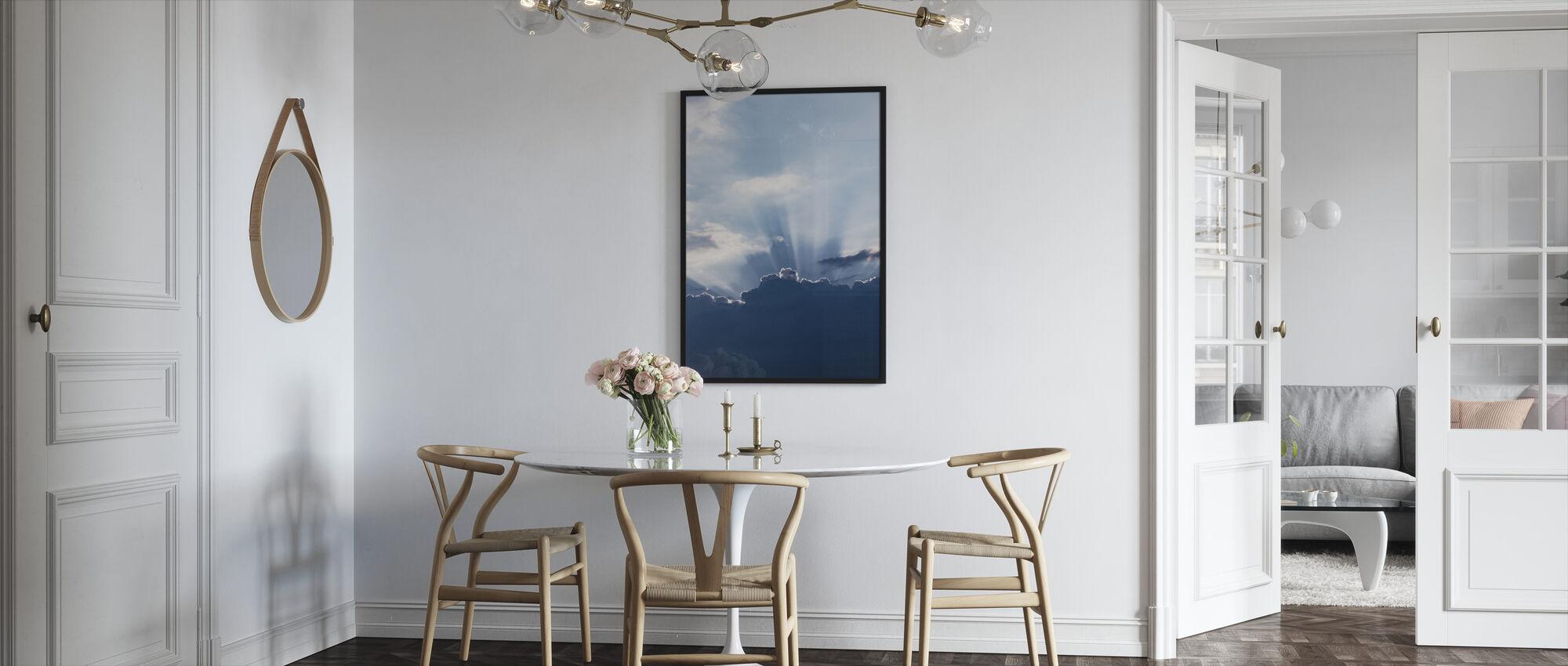 Rays of Light - Framed print - Kitchen