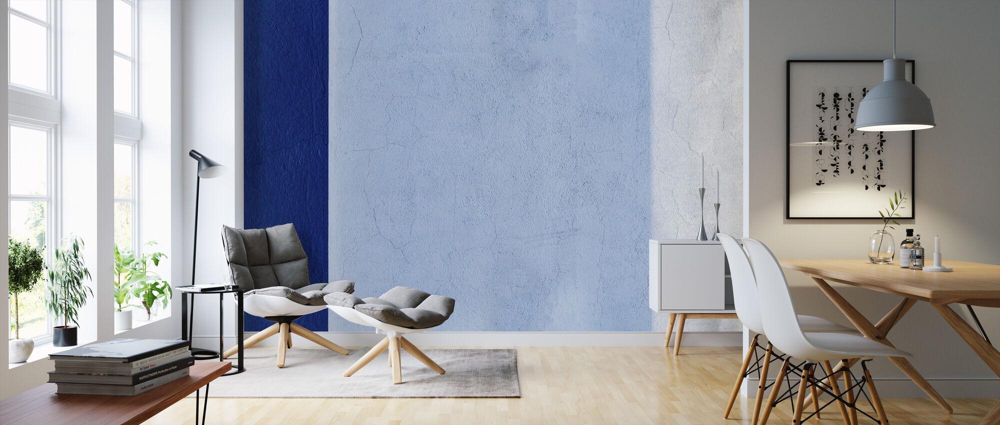 Blue Wall - Wallpaper - Living Room