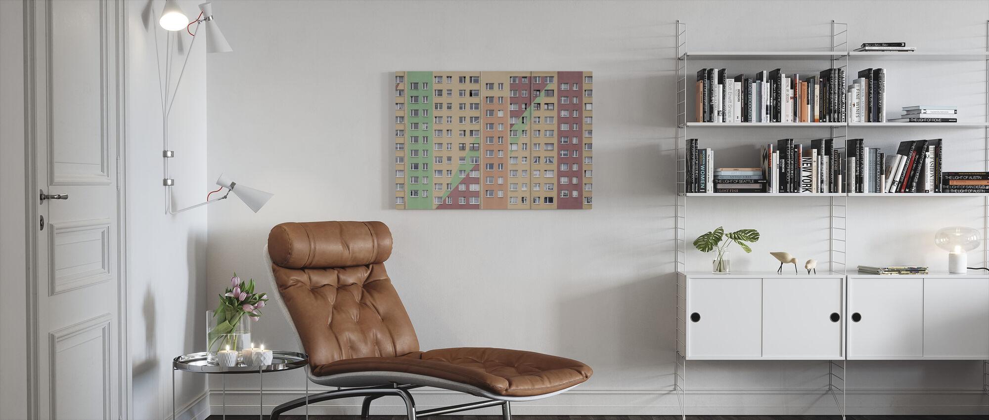 Apartment Windows - Canvas print - Living Room