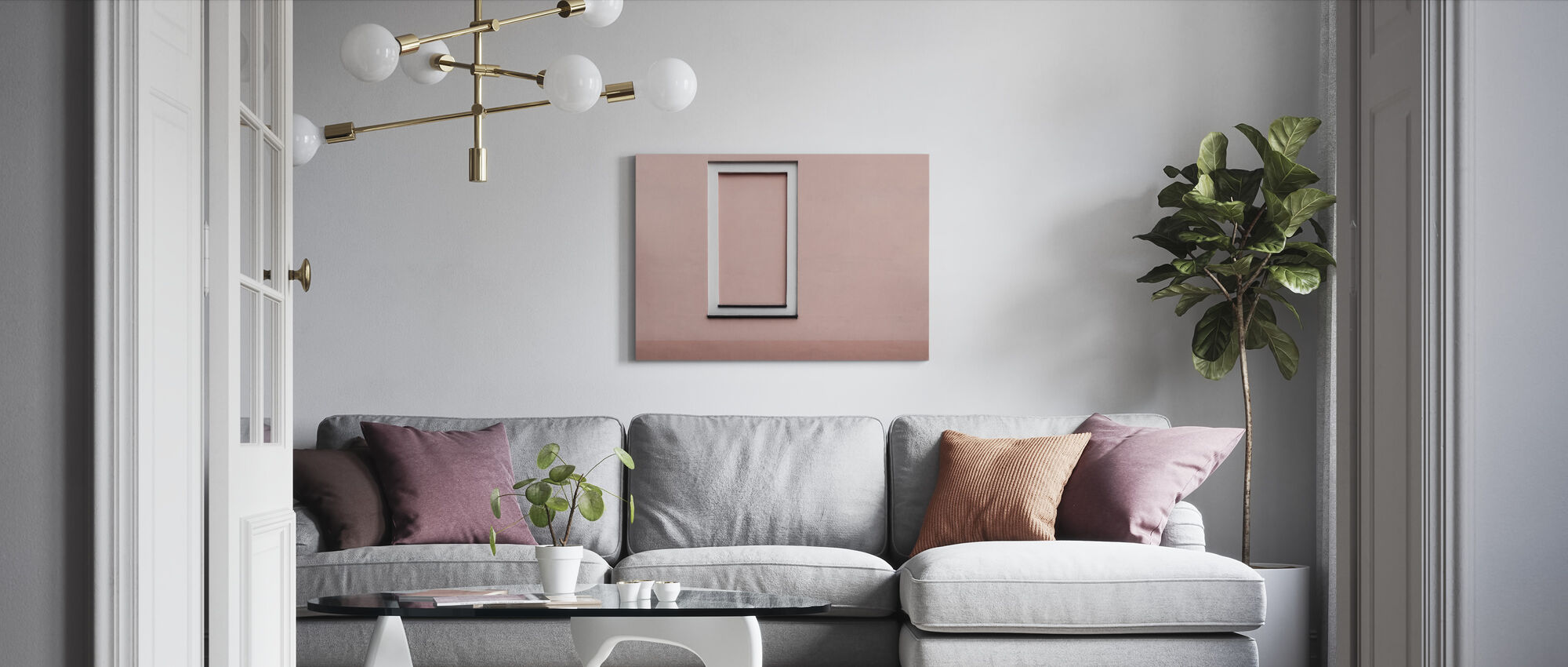 Simple Wall - Canvas print - Living Room