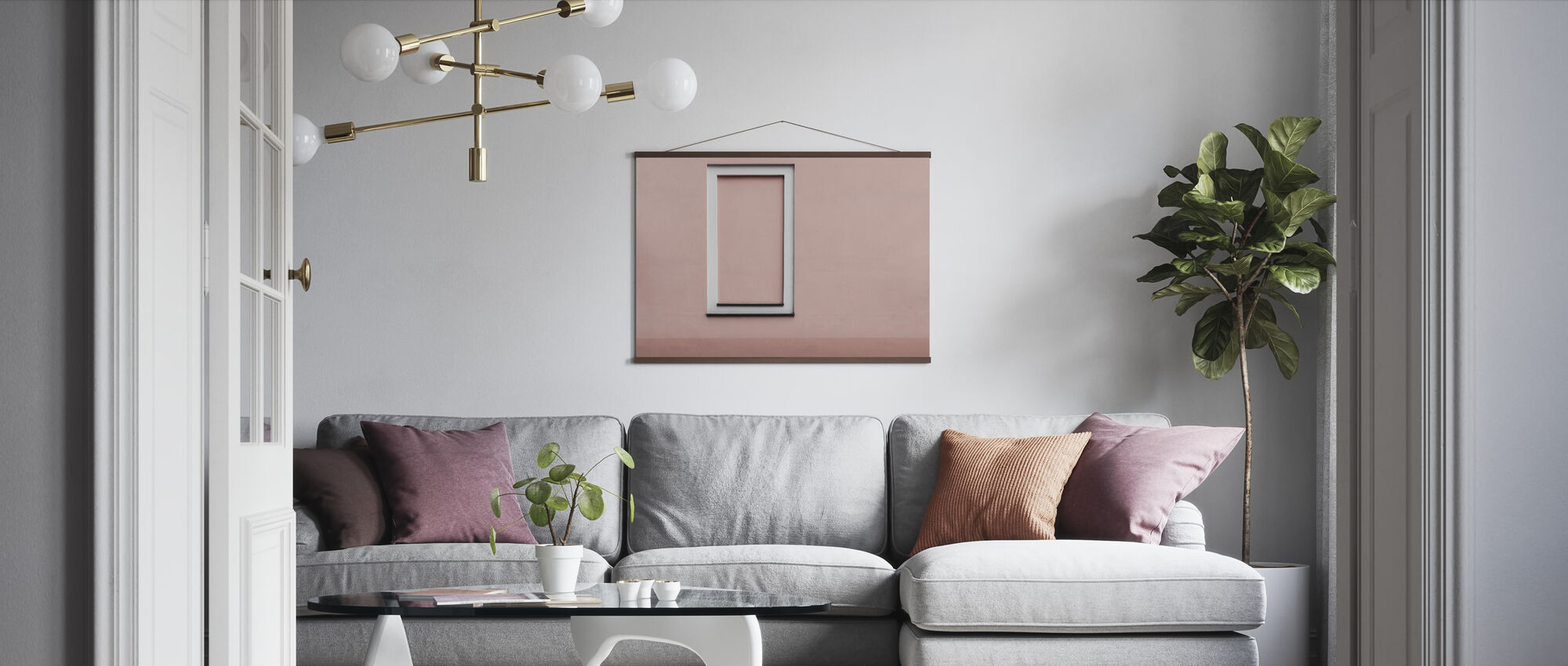 Simple Wall - Poster - Living Room