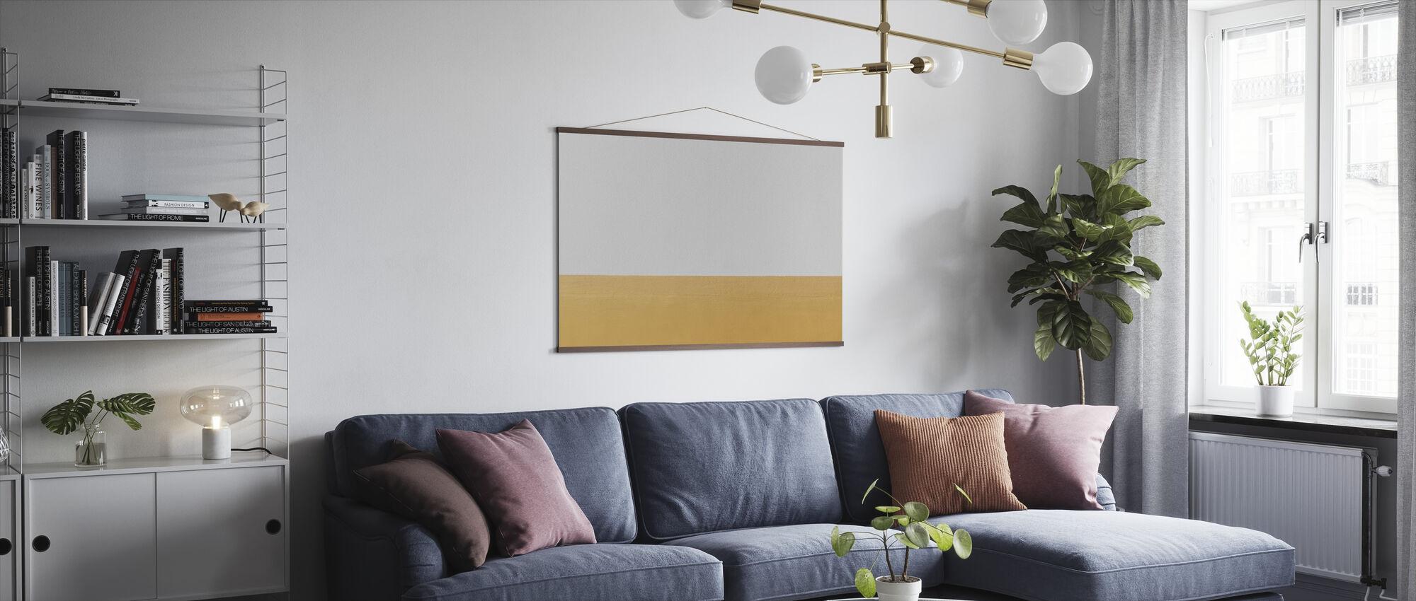 Oranje en Witte Muur - Poster - Woonkamer