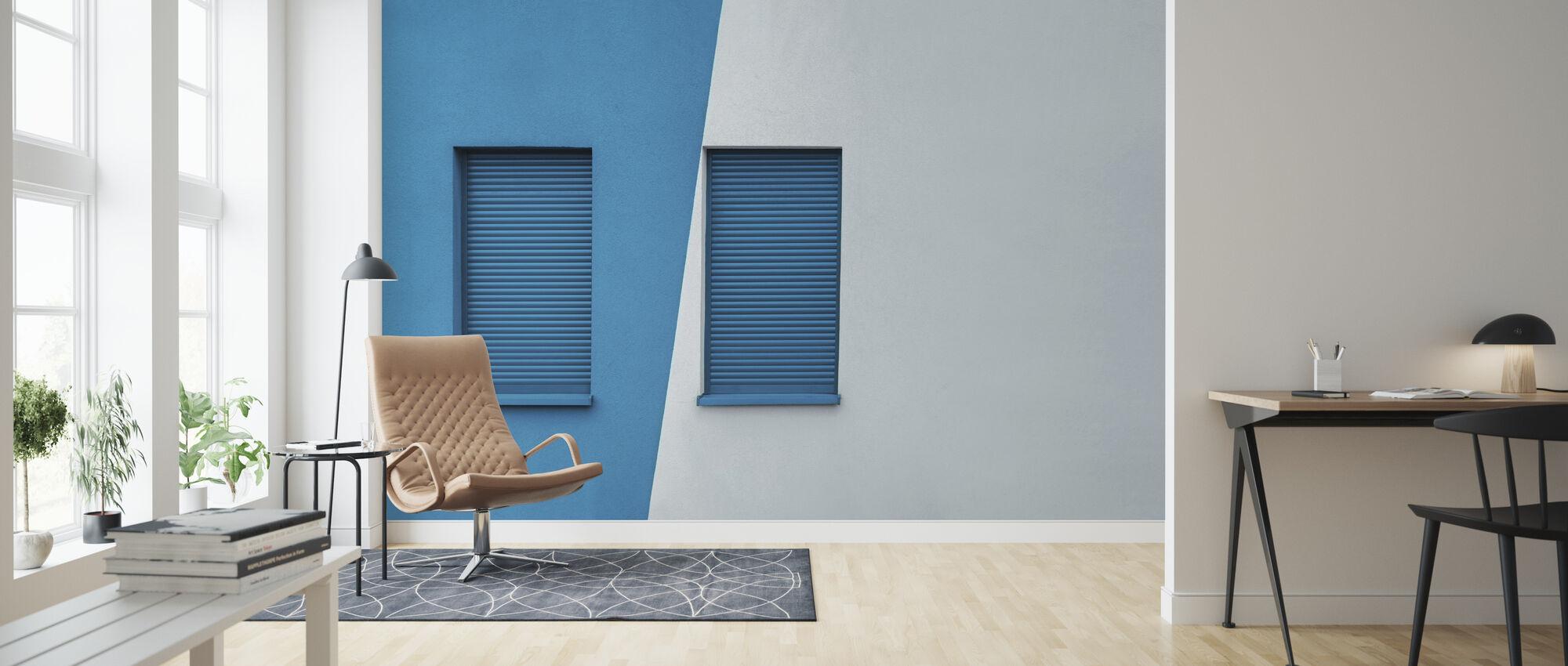 Symmetrinen ikkuna - Tapetti - Olohuone
