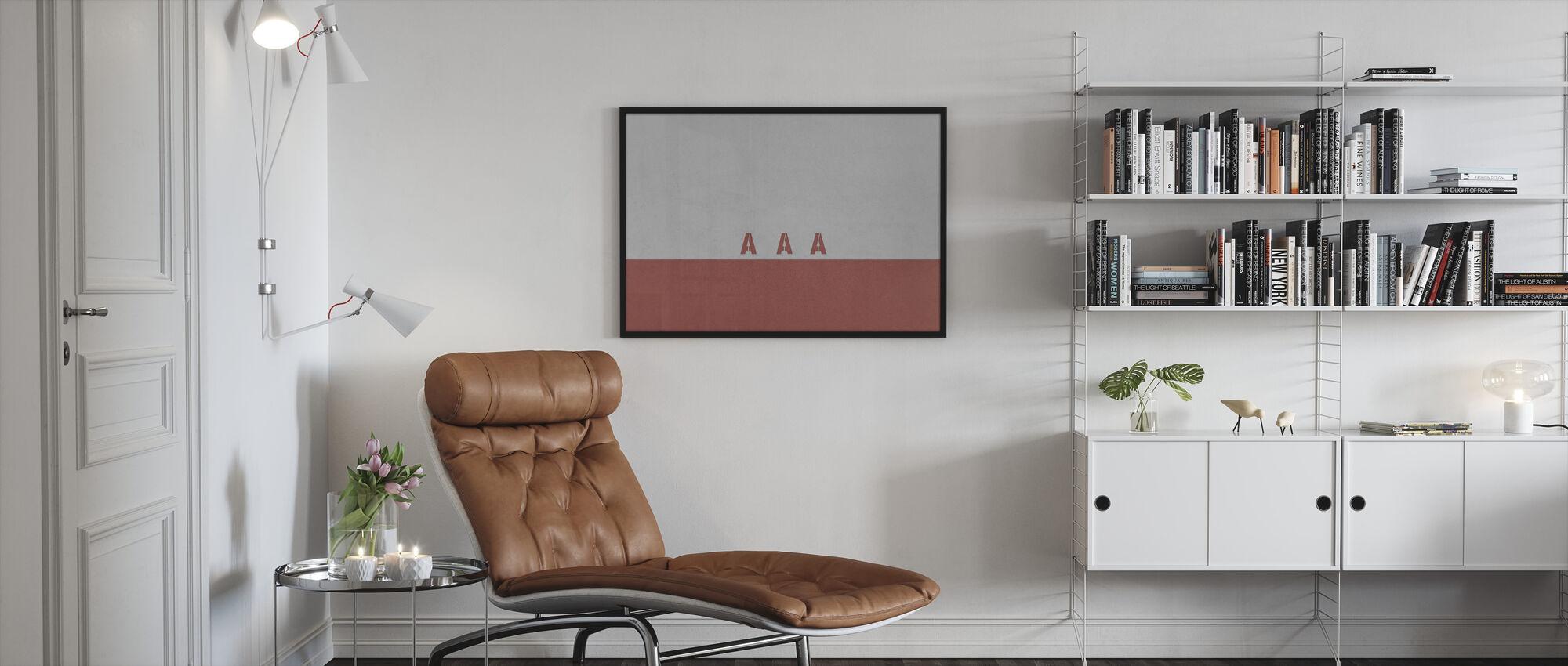AAA Wall - Framed print - Living Room