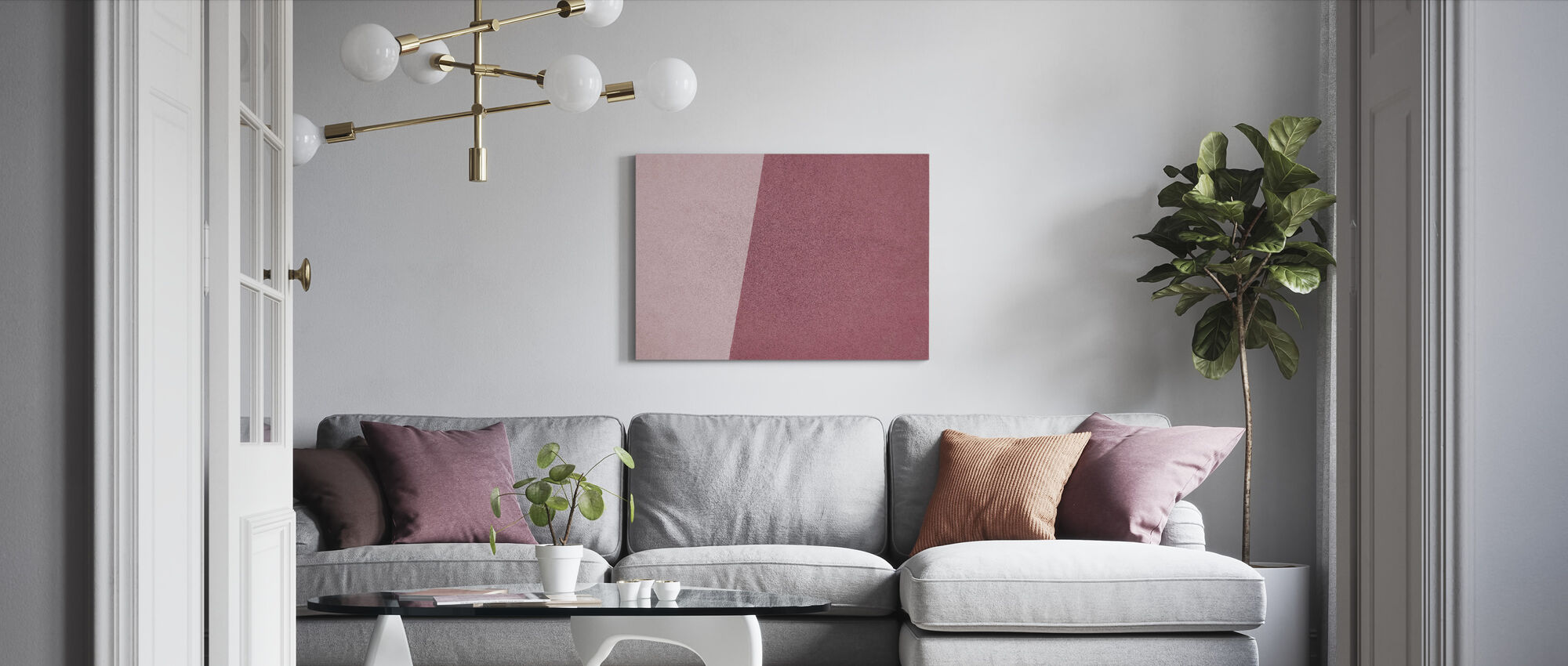 Pink Wall Art - Canvas print - Living Room