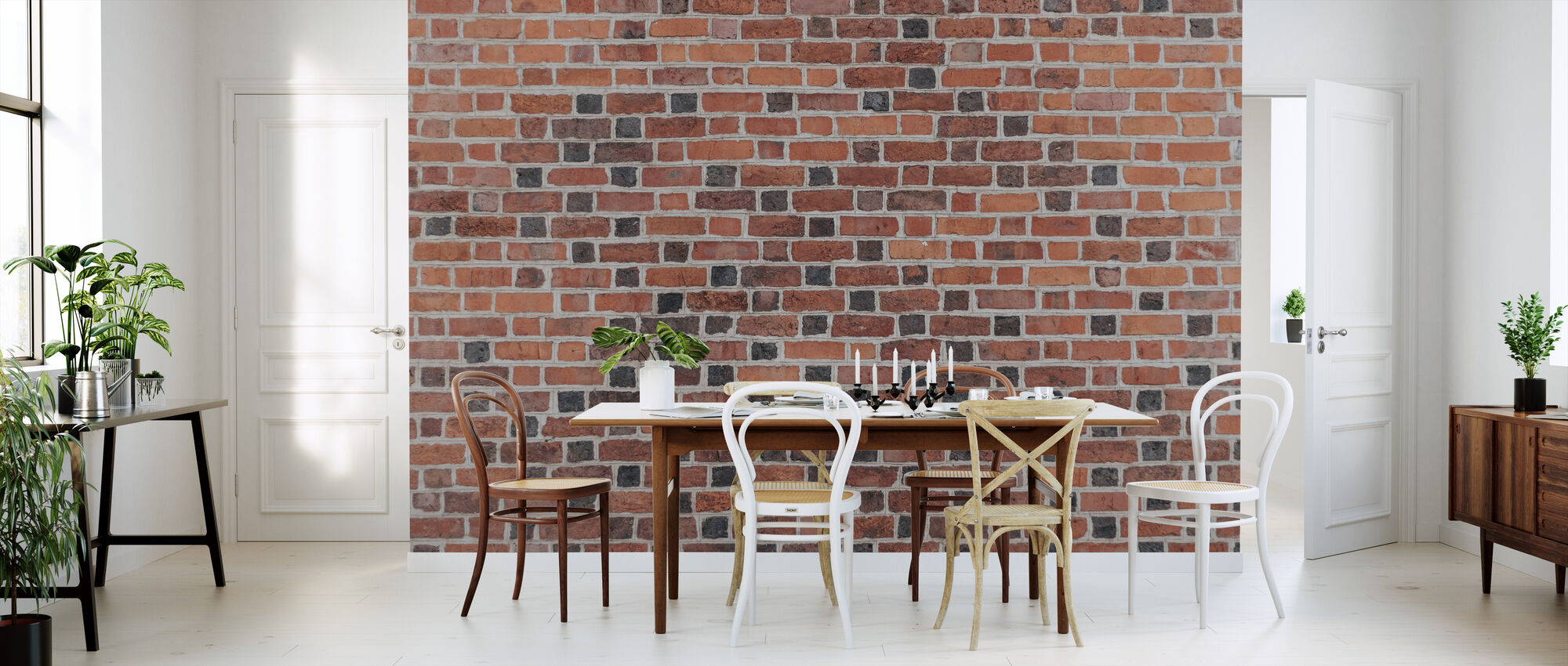 Brick Wall Brown - Wallpaper - Kitchen