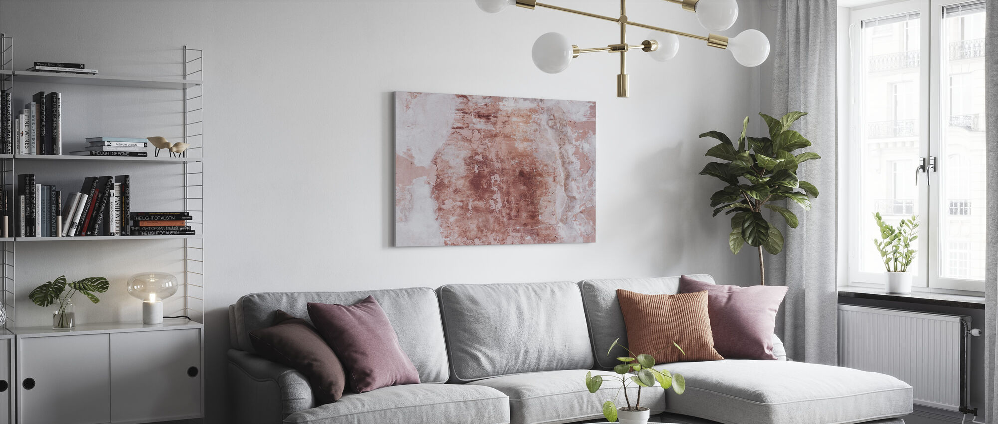Worn Out Wall - Canvas print - Living Room