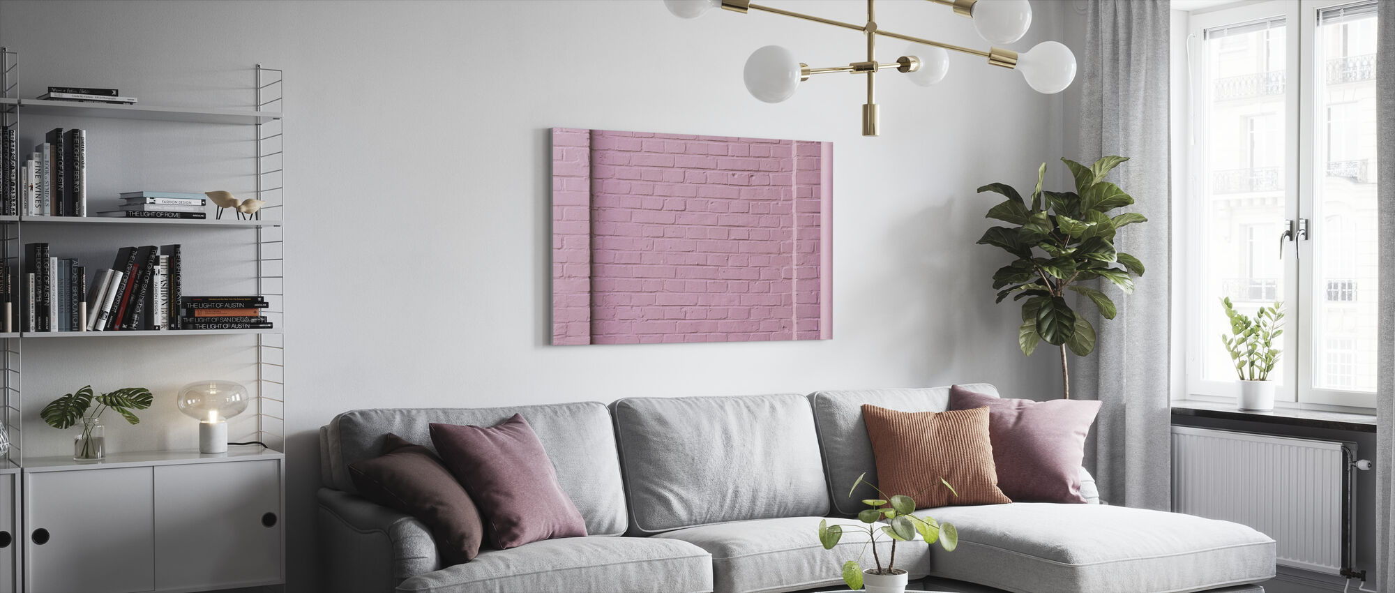 Pink Wall - Canvas print - Living Room