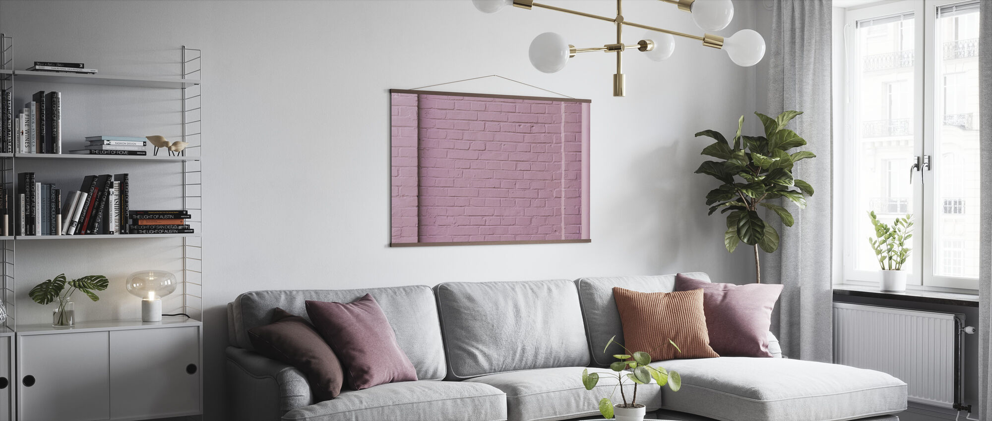 Pink Wall - Poster - Living Room