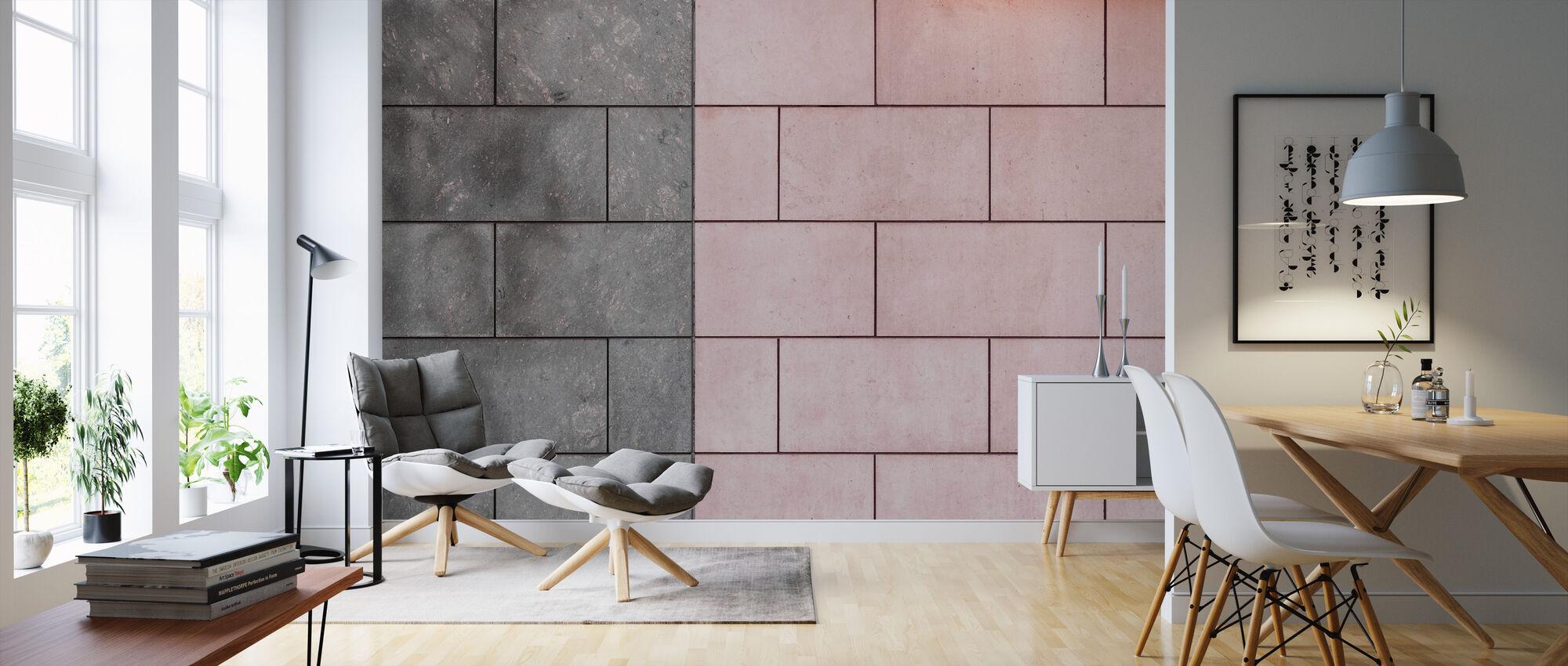 Symmetrical Tiles - Wallpaper - Living Room