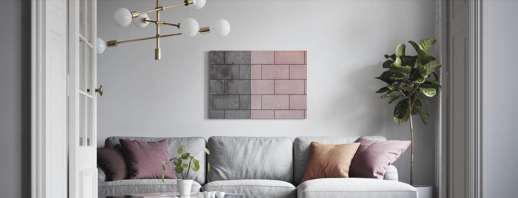 Symmetrical Tiles - Canvas print - Living Room