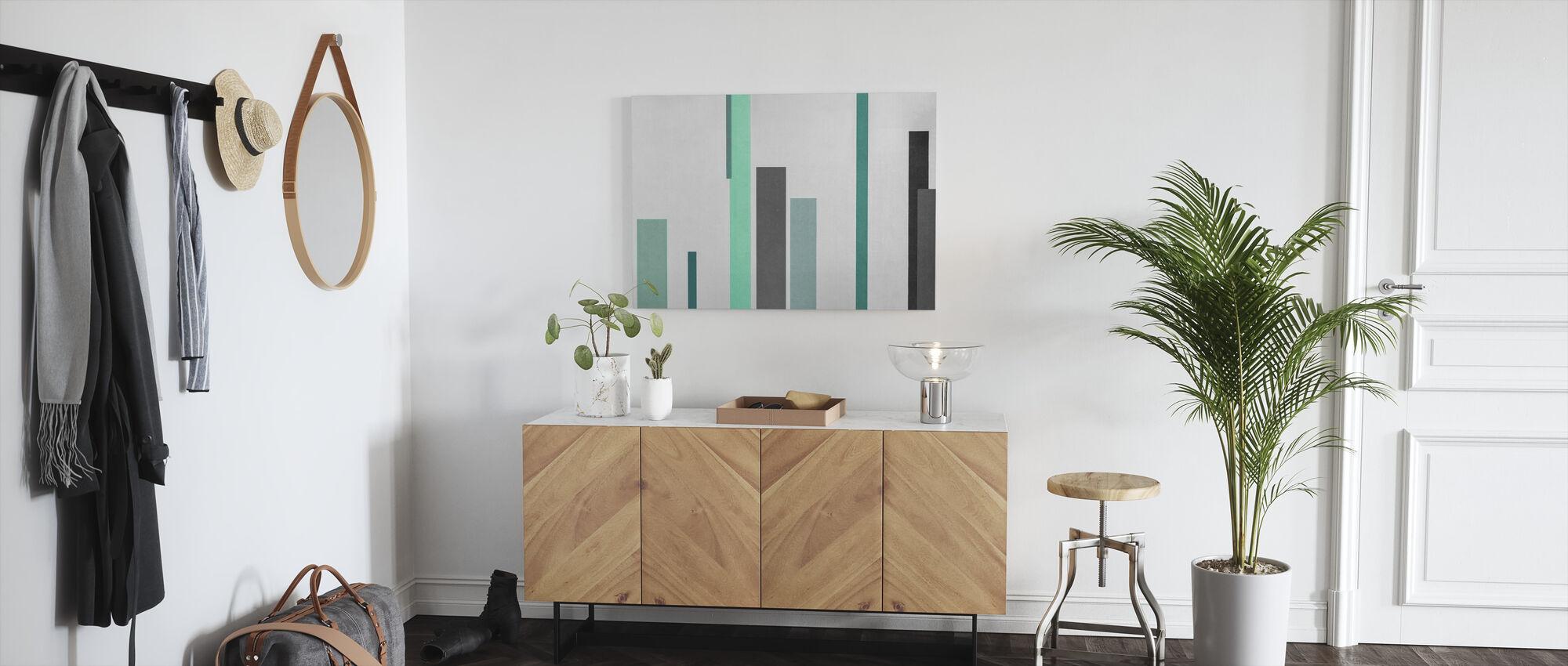 Green and Grey Texture - Canvas print - Hallway