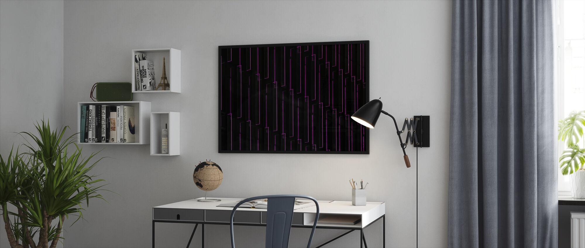 Lilla Neon Lys - Innrammet bilde - Kontor
