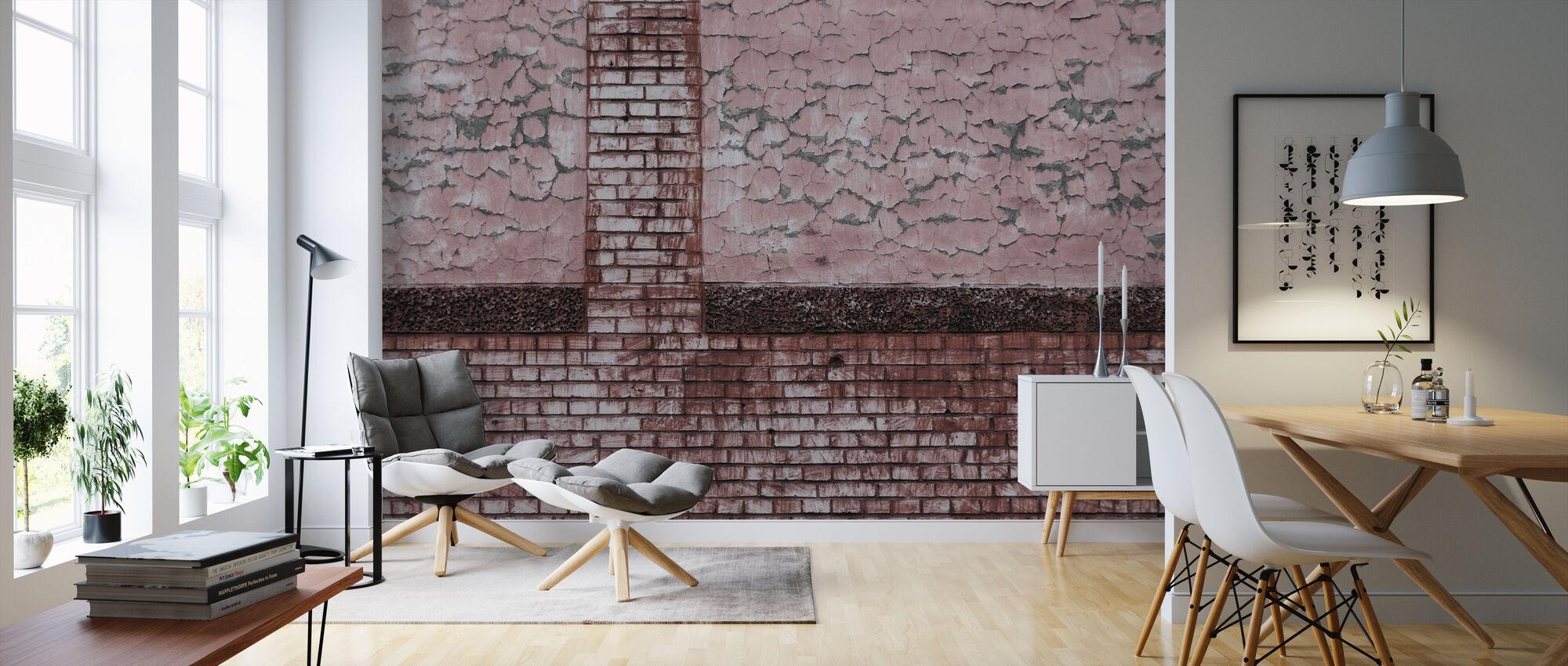 Bricks and Pattern - Wallpaper - Living Room