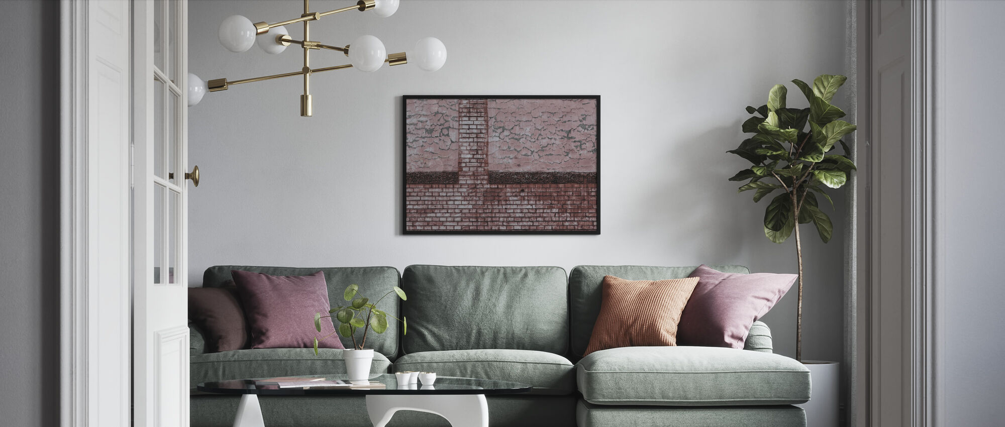 Bricks and Pattern - Framed print - Living Room