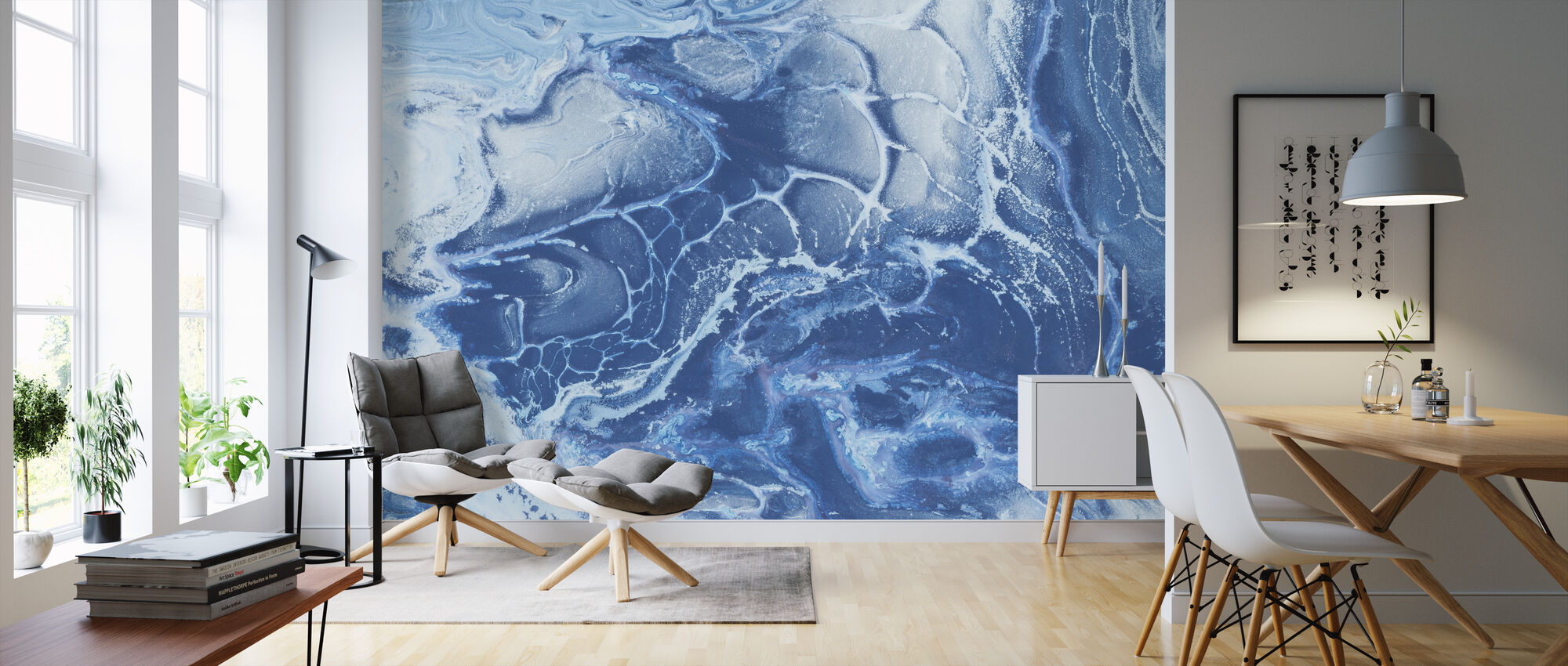 Artic Ocean Texture - Wallpaper - Living Room
