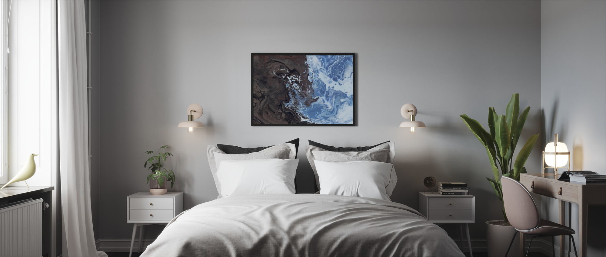 Konst Textur - Inramad tavla - Sovrum