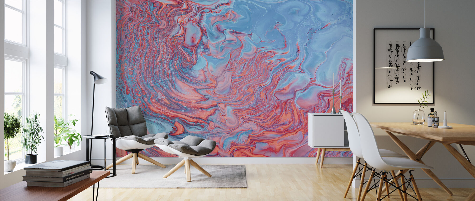 Abstract Painting - Wallpaper - Living Room