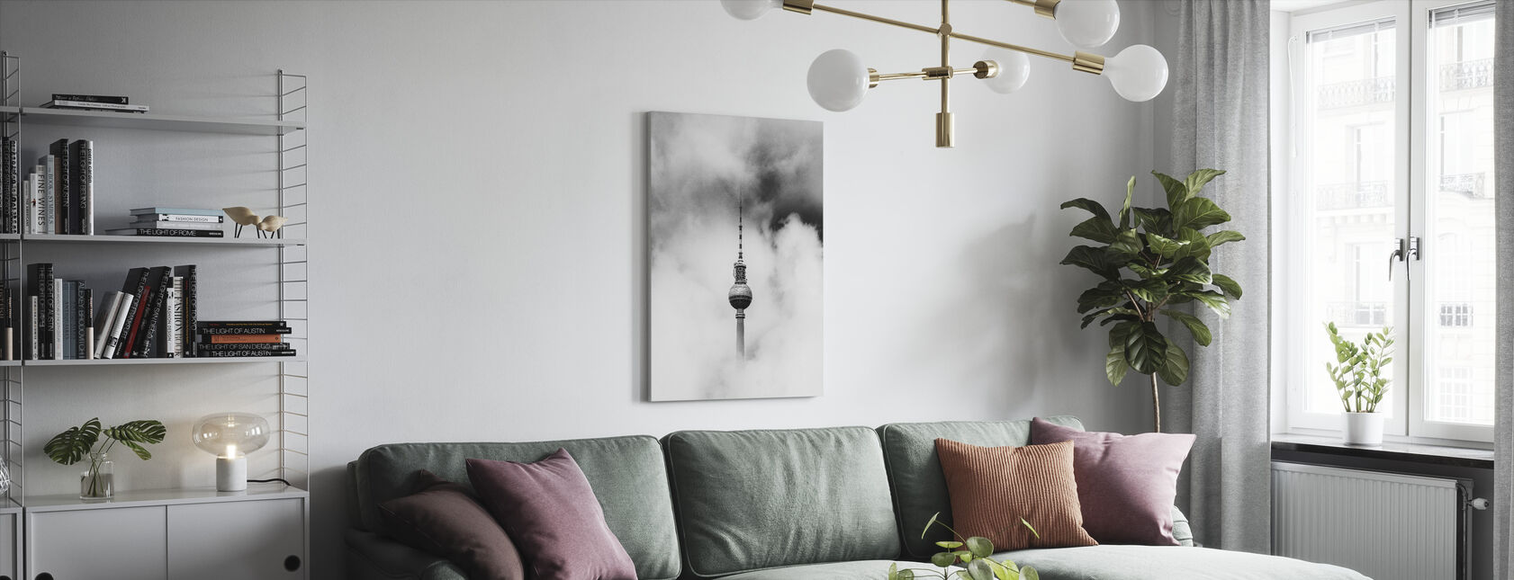 Cloudy Tower - Canvas print - Living Room