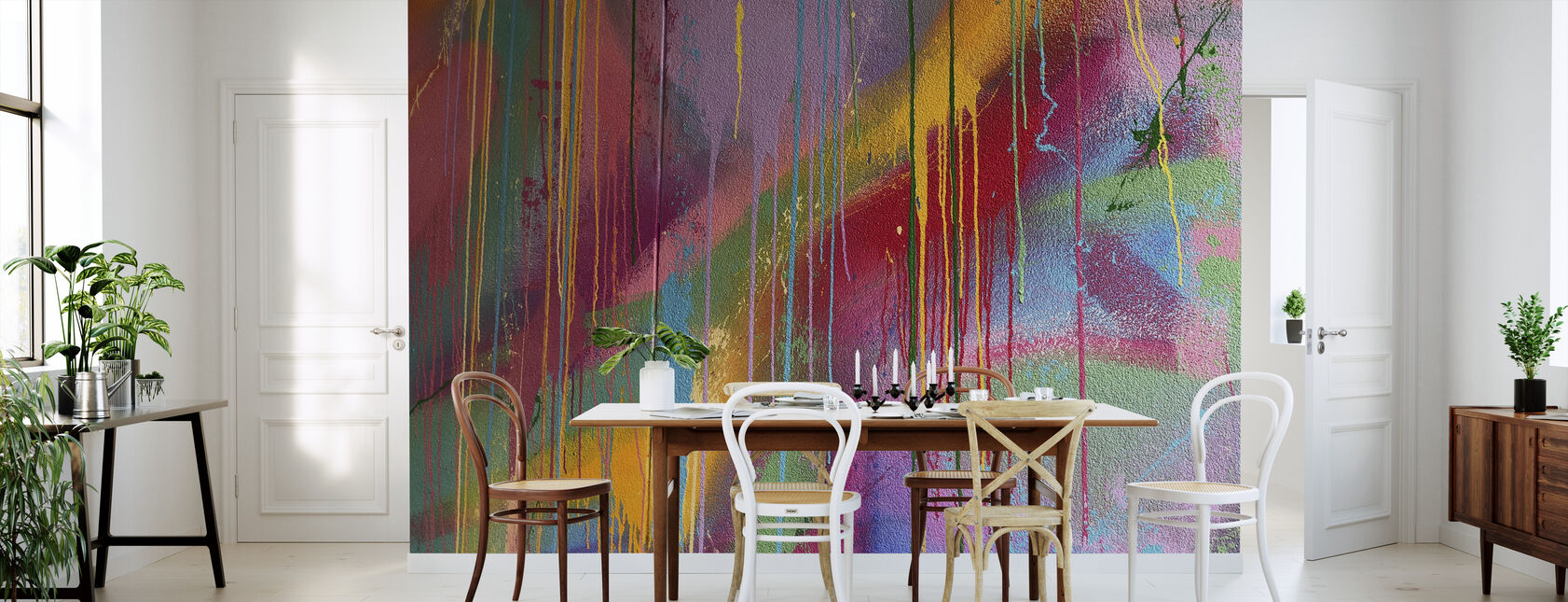 Colorful Wall Graffiti - Wallpaper - Kitchen