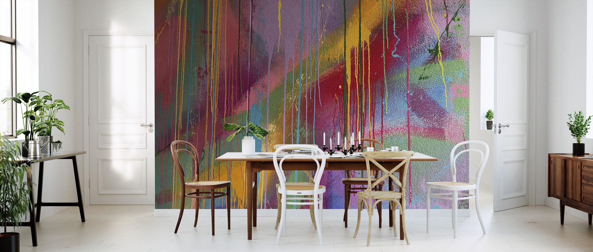 Colorful Wall Graffiti - Wallpaper - Kitchen