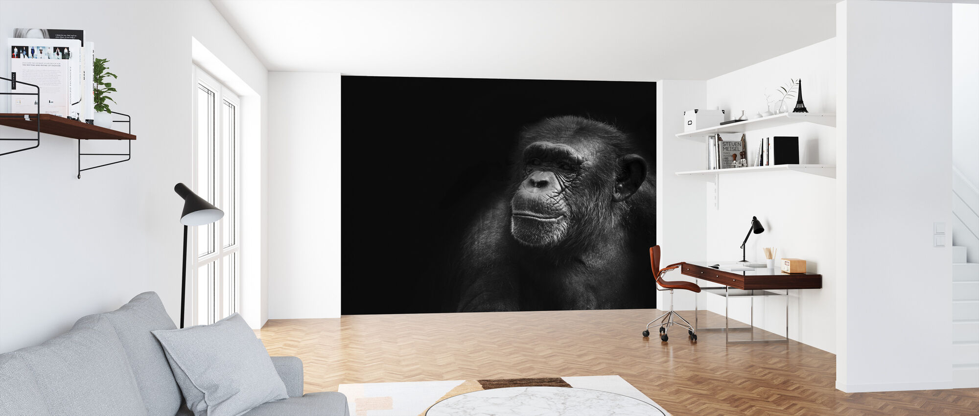 Monkey and Black - Wallpaper - Office