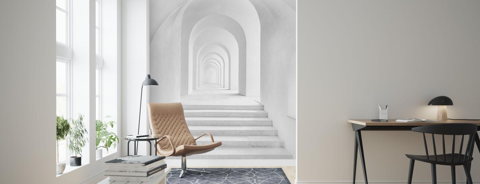 Arco Blanca - Papel pintado - Salón