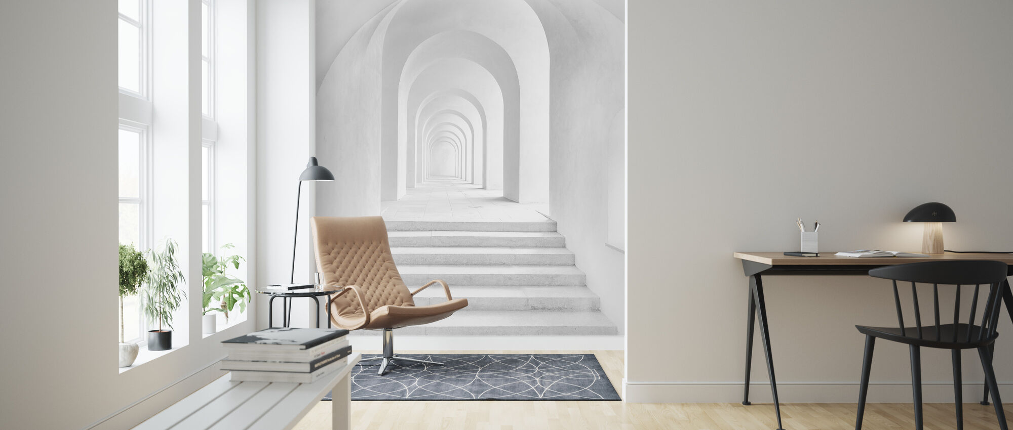 White Archway - Wallpaper - Living Room
