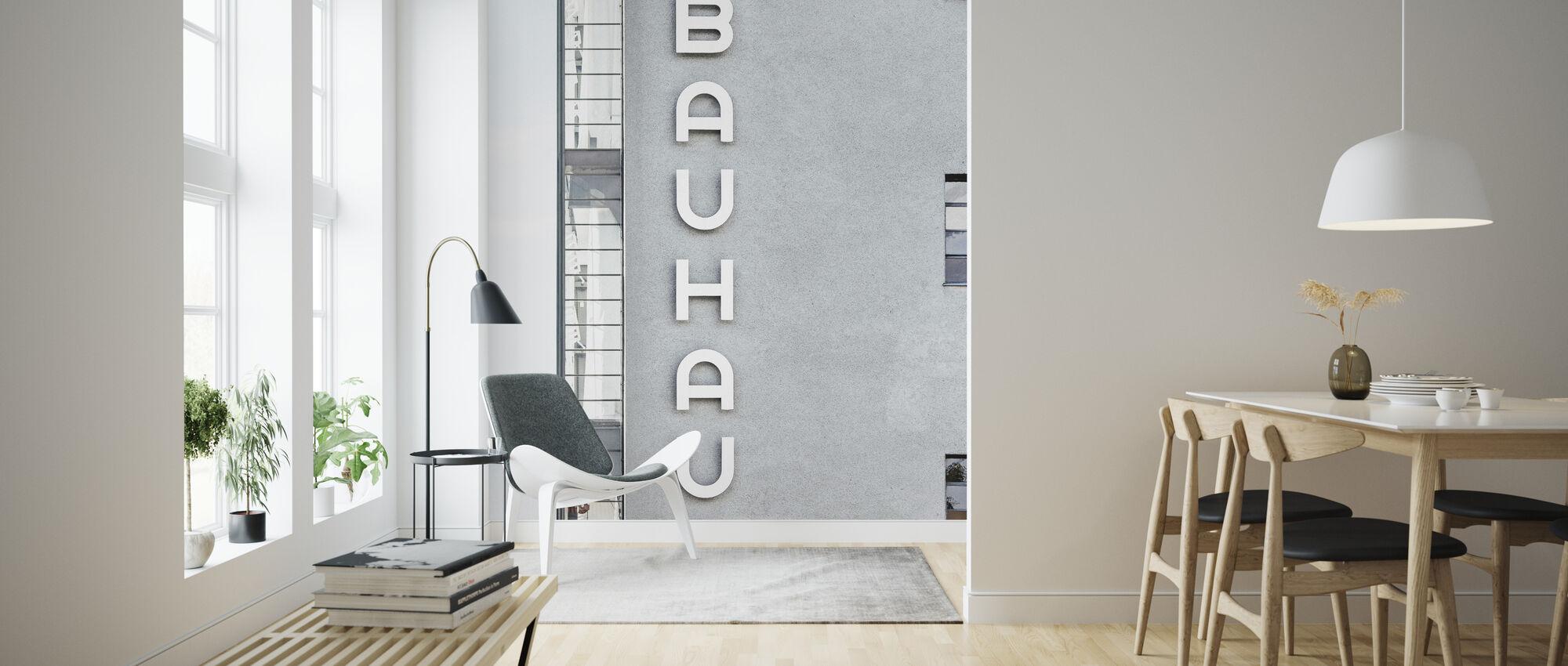 Bauhaus Building Font - Wallpaper - Living Room