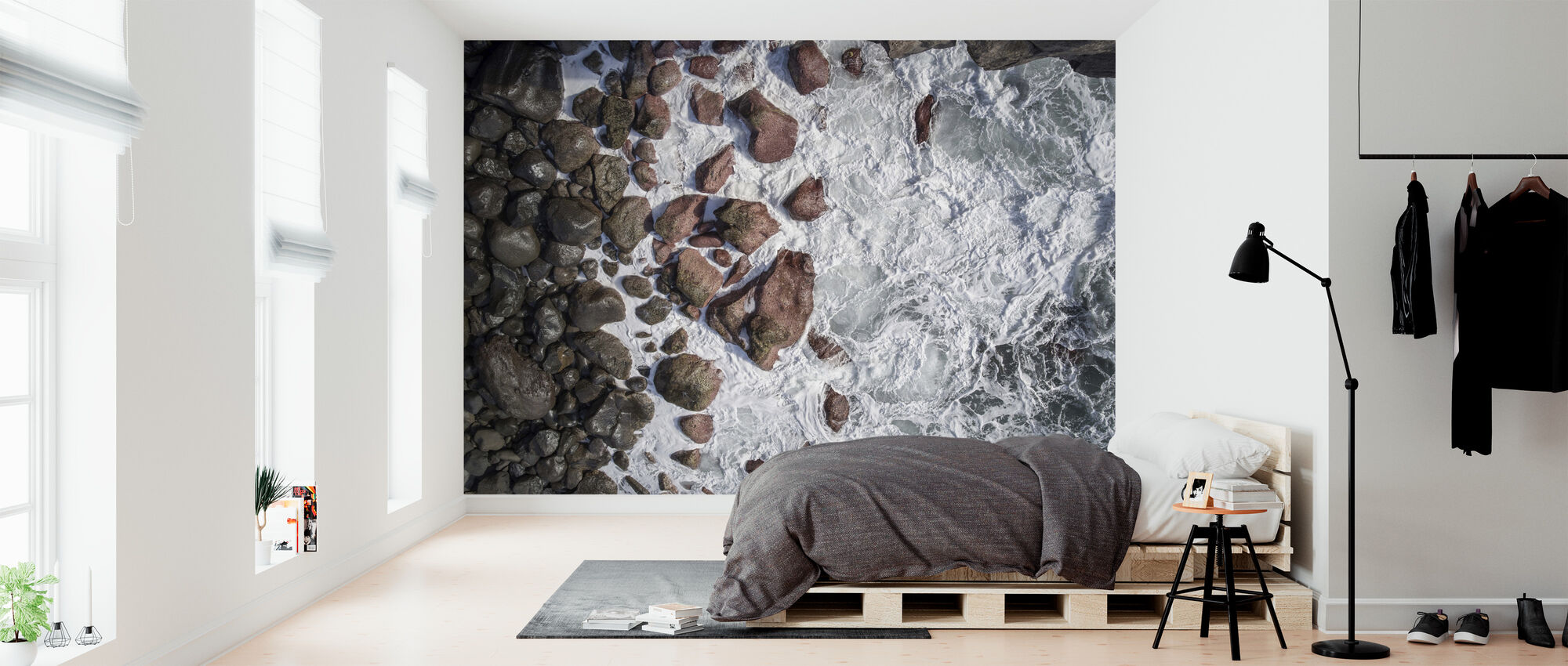 Waves and Rocks - Wallpaper - Bedroom