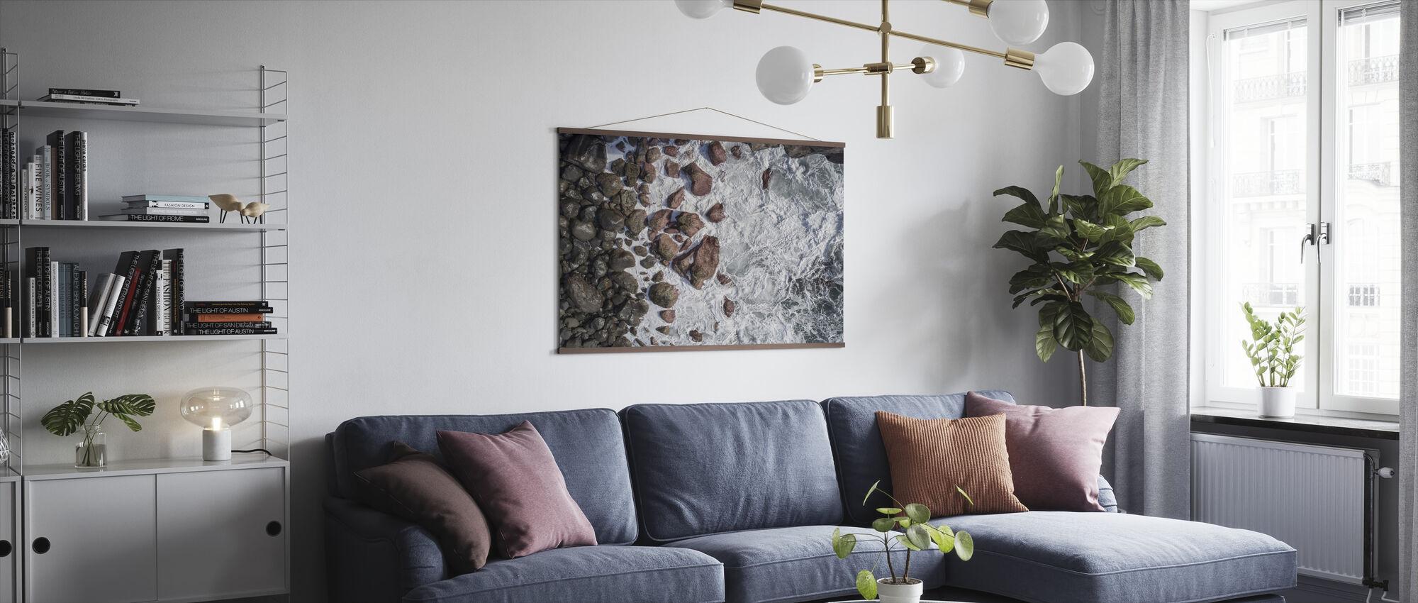 Golven en rotsen - Poster - Woonkamer