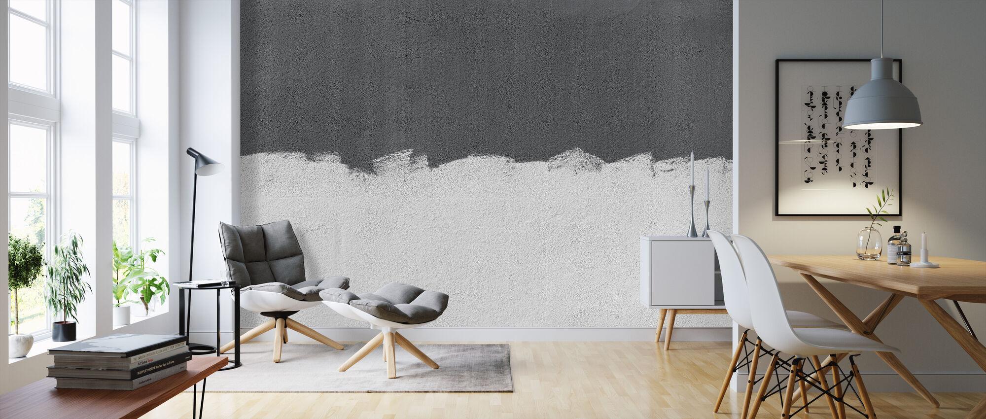 Grey Wall - Wallpaper - Living Room