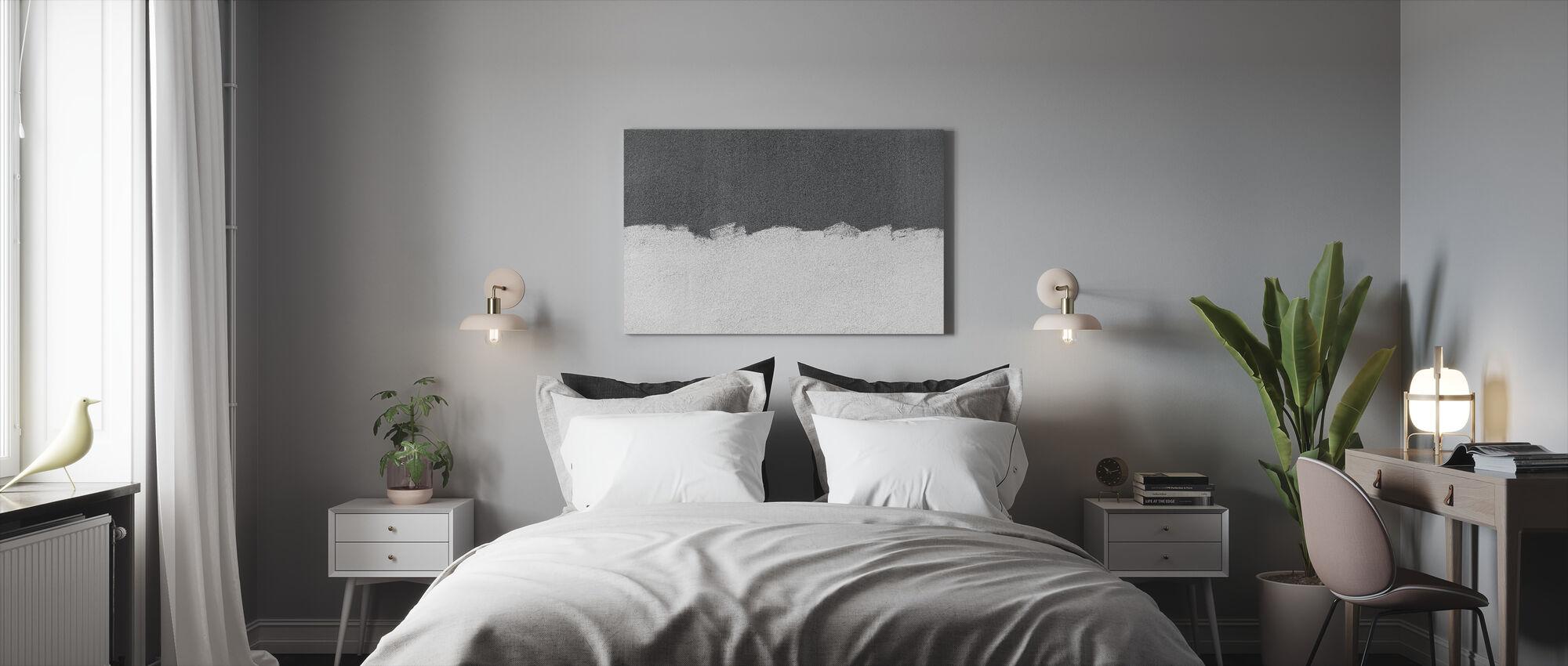 Grey Wall - Canvas print - Bedroom