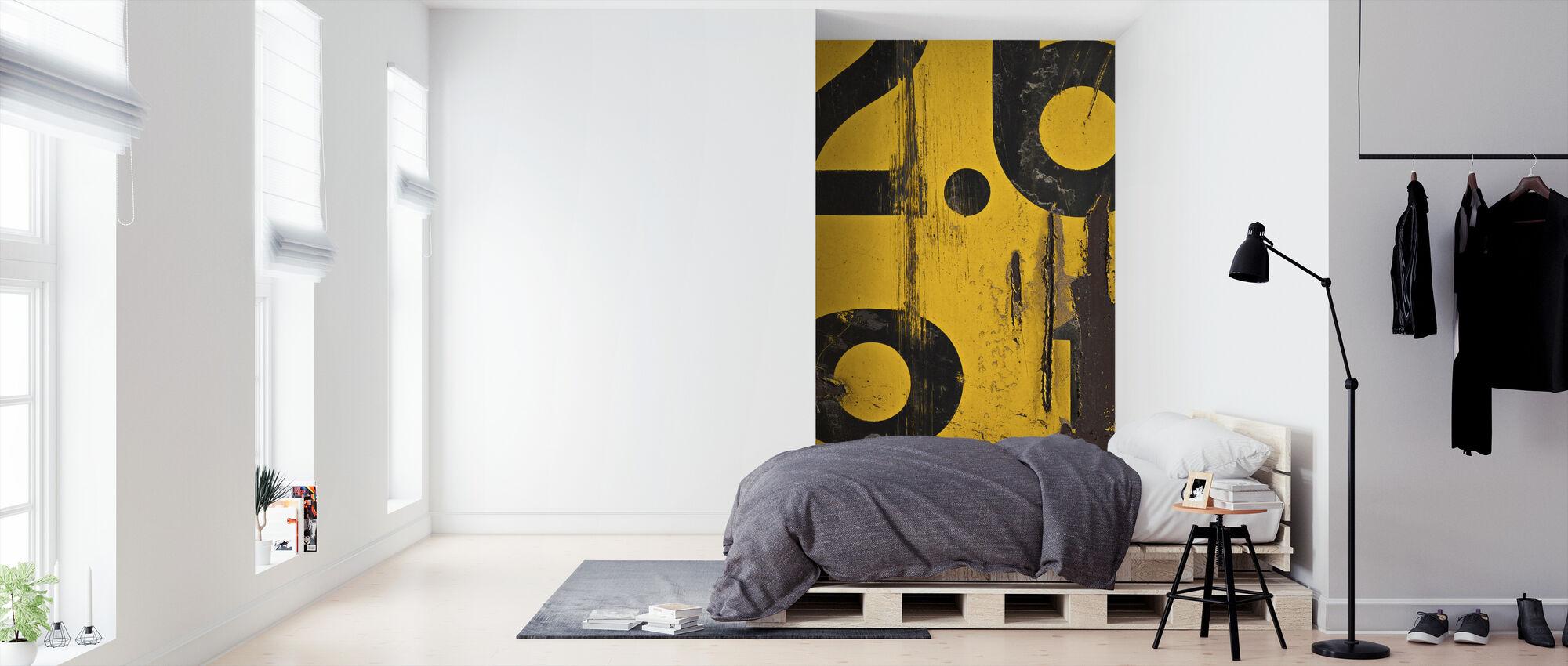 Metrisch alfabet - Behang - Slaapkamer