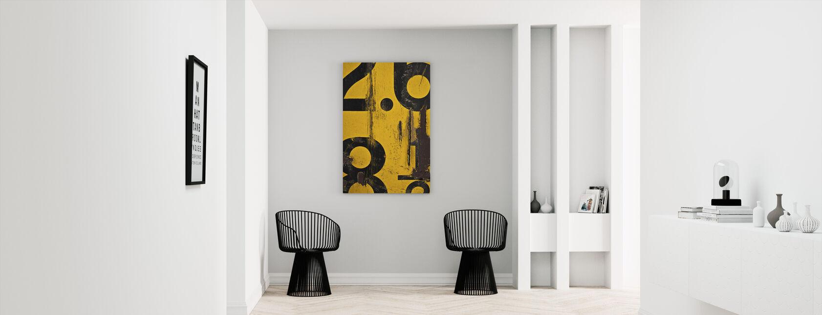 Metric Alphabet - Canvas print - Hallway