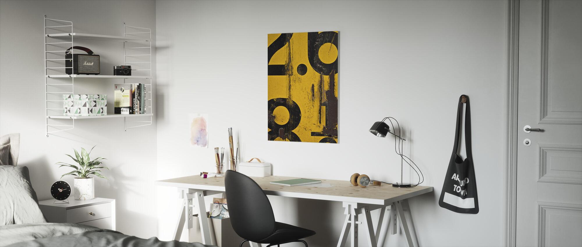 Metric Alphabet - Canvas print - Kids Room