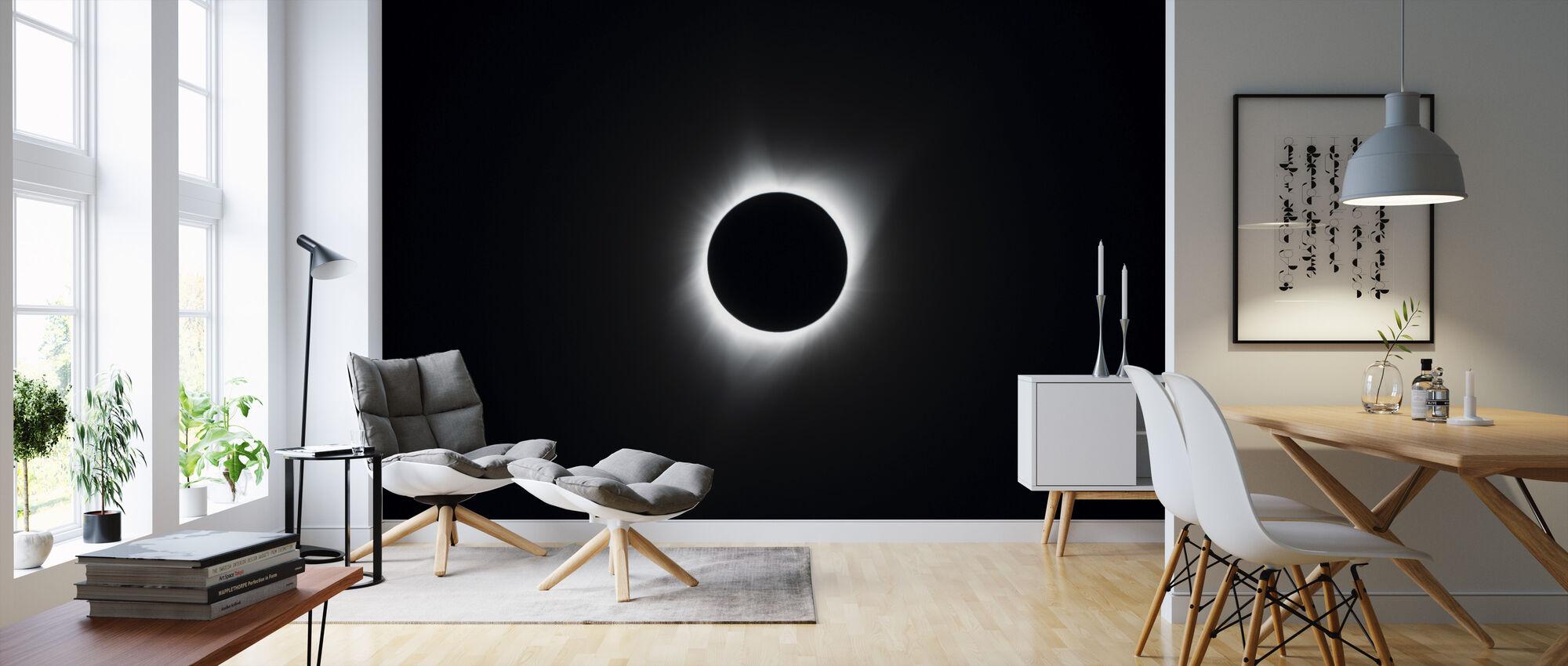 Totale Sonnenfinsternis - Tapete - Wohnzimmer