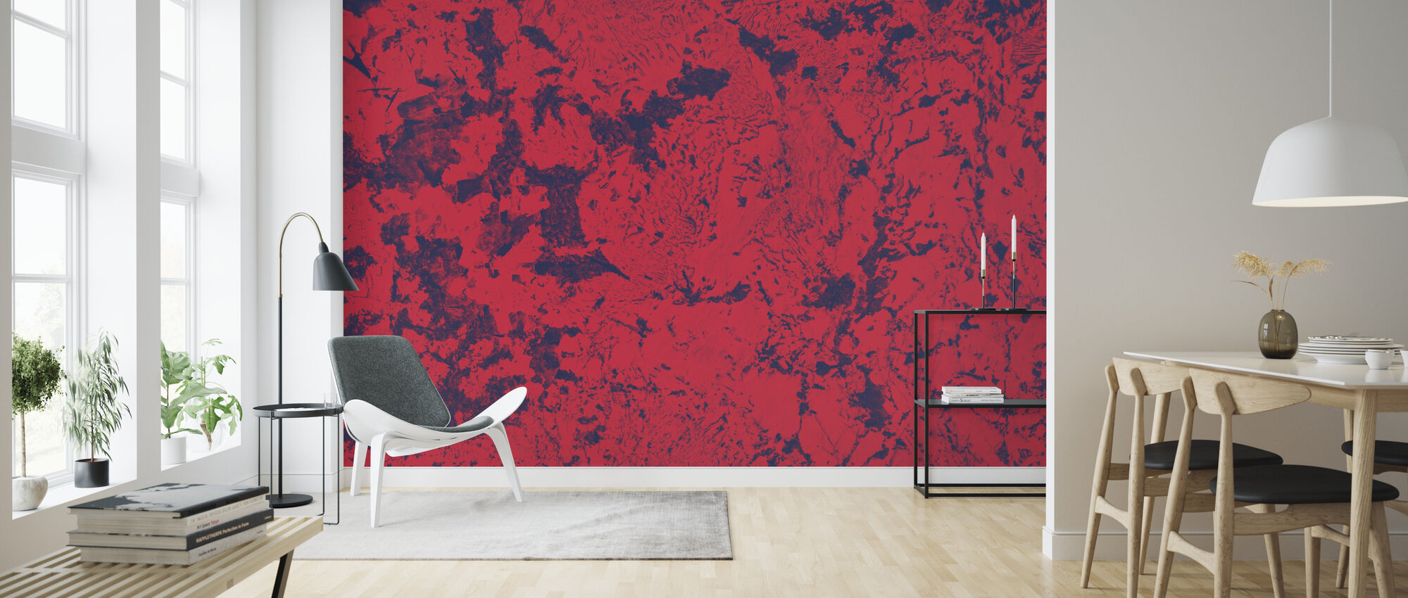 Red Rug Texture - Wallpaper - Living Room
