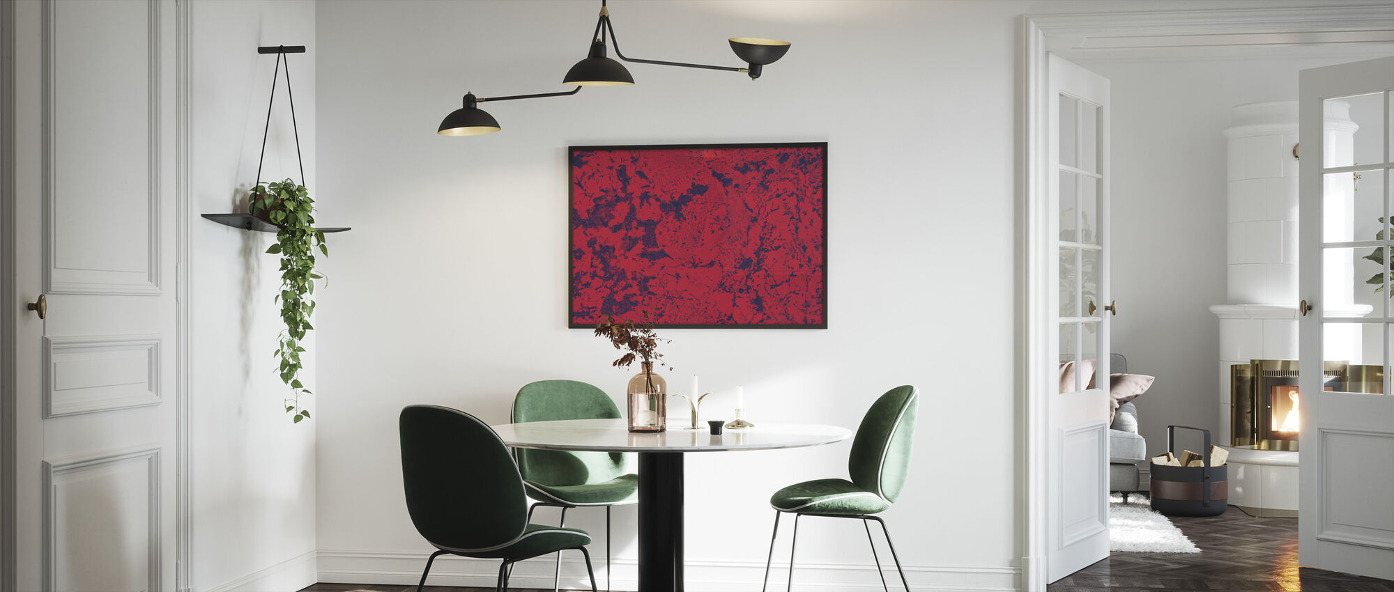 Red Rug Texture - Framed print - Kitchen