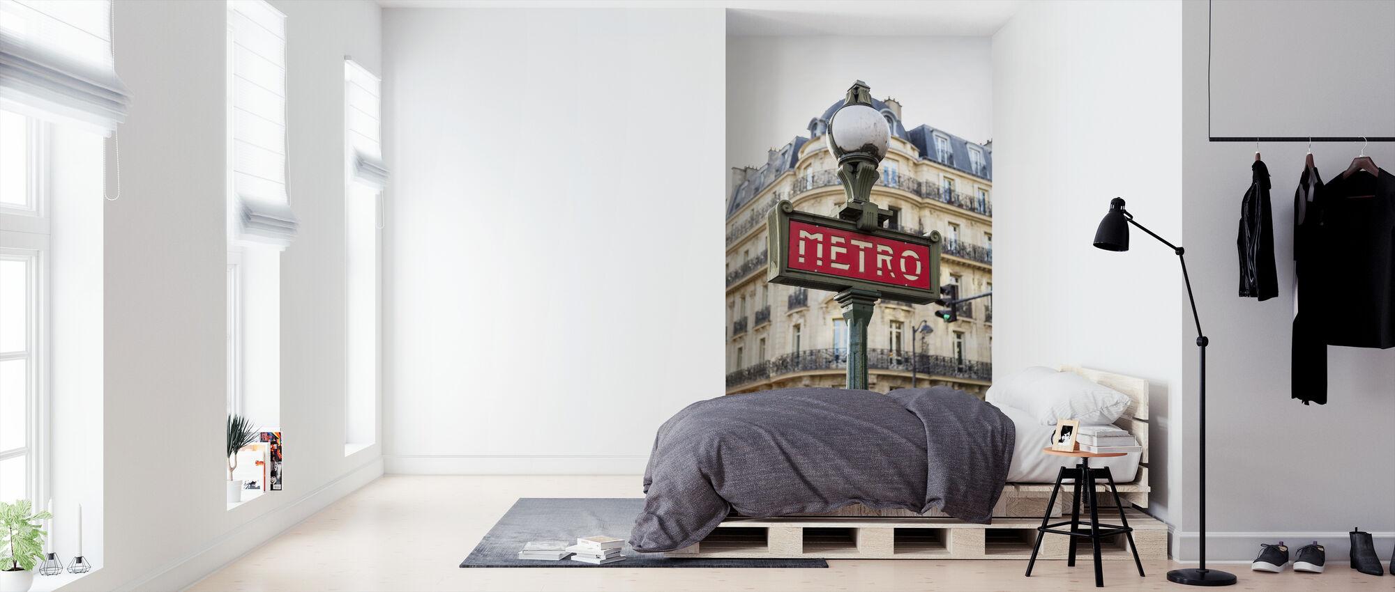 Metro teken - Behang - Slaapkamer