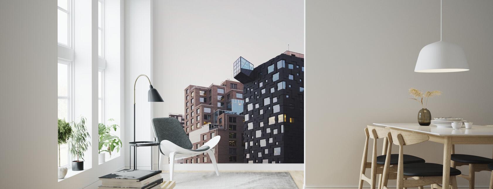 Apartment Blocks - Wallpaper - Living Room