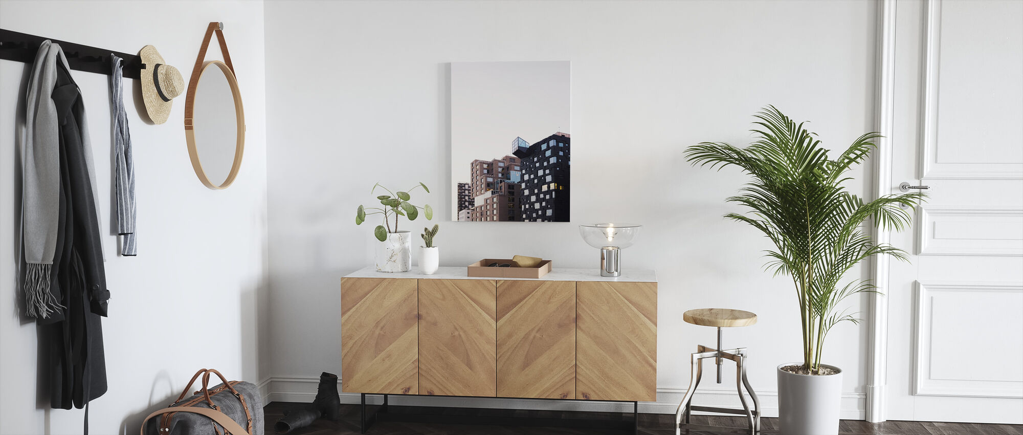 Apartment Blocks - Canvas print - Hallway