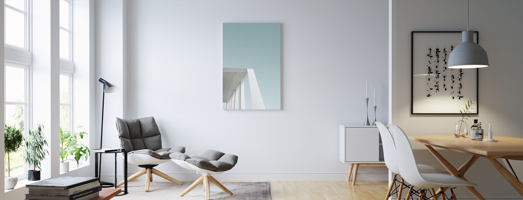 Just White - Canvas print - Living Room
