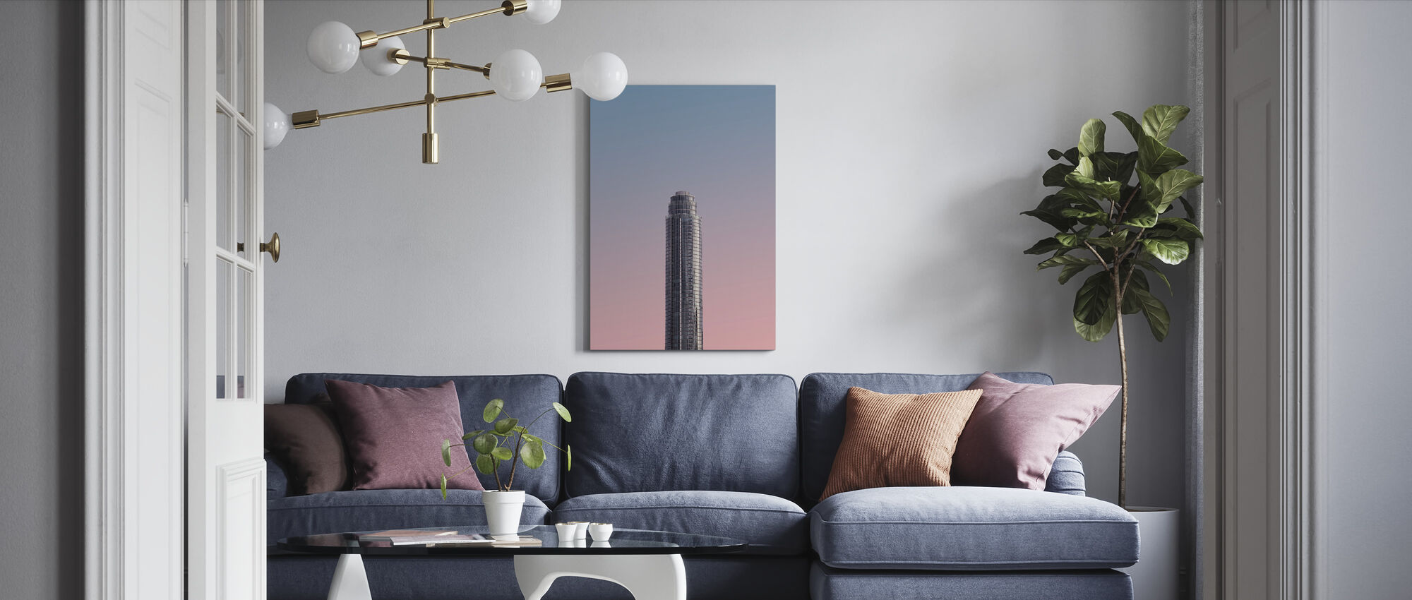 Tower - Canvas print - Living Room