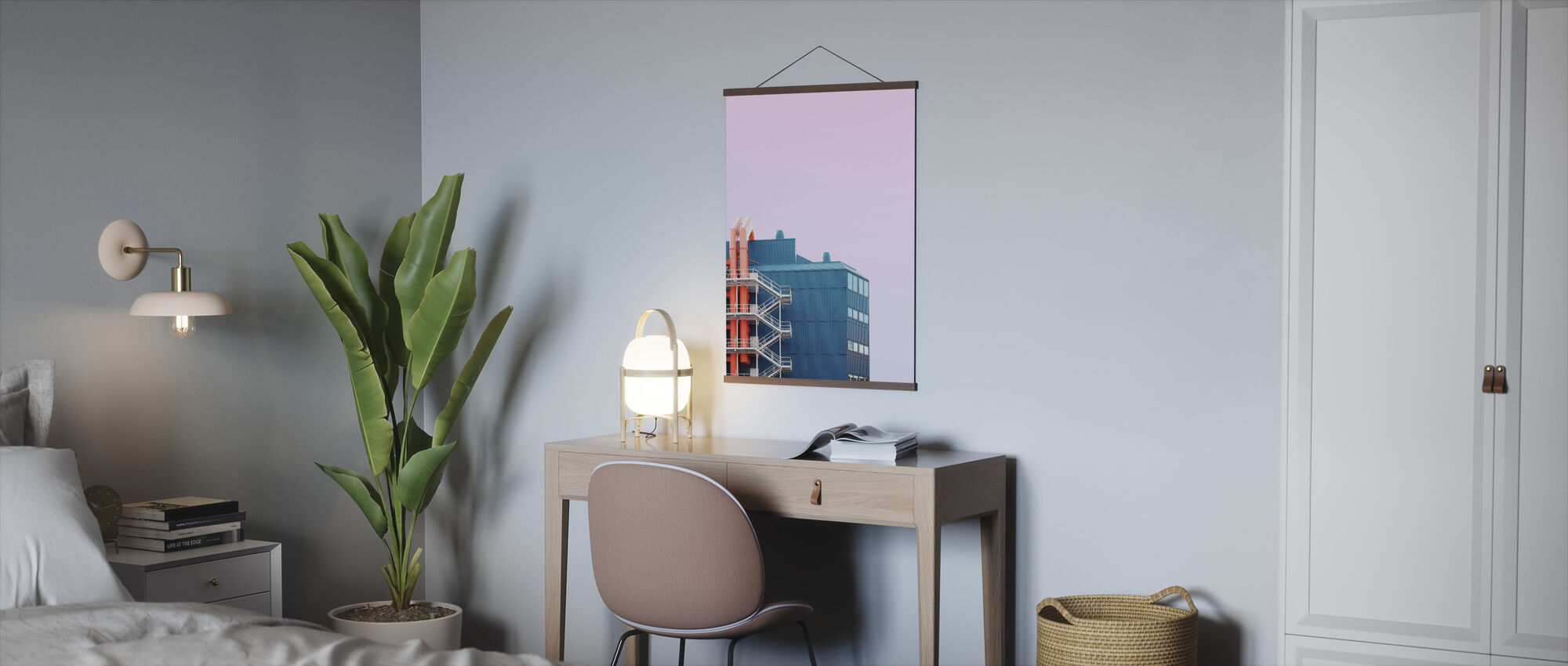 Industrial Pipe Building - Poster - Office